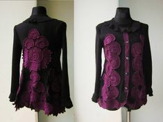 Hey, I found this really awesome Etsy listing at https://www.etsy.com/listing/213133818/black-and-purple-crochet-sweater