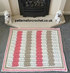 Free crochet pattern for fireside rug http://www.patternsforcrochet.co.uk/fireside-rug-usa.html #patternsforcrochet #freecrochetpatterns
