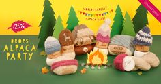 The countdown has started to this year's biggest celebration: DROPS Alpaca Party!  Oct 15th to Dec 31st -25% discount on all alpaca yarns in our standard assortment! #alpacaparty #garnstudio