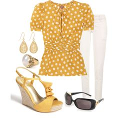"""""""Sunny Disposition"""" by fiftynotfrumpy on Polyvore"""