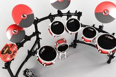 Electronic drumset  3D model + render / detail  ...this drum mesh... so smooth!!  Made for dbdrums, Argentina!