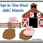 Pigs In The Mud ABC Match  Free!