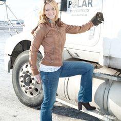 Ice Road Truckers Lisa, Lisa Kelly Trucker, Lego Boat, Trucks And Girls, Big Rig Trucks, Explorer, Biker Chick, Vintage Trucks, Dr. Martens
