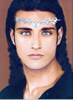 Male elf-reminds me of something that would be on the lord of the rings. it's a shame the hair looks a little photoshoped at the ends but it'll make for a splendid reference. Fantasy Male, Fantasy World, Hobbit, Male Elf, Ange Demon, Elvish, Mo S, Tolkien, Fantasy Characters