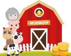 Banner Animalitos de la Granja Nene Farm Birthday, First Birthday Parties, First Birthdays, Farm Animal Party, Farm Animal Crafts, Farm Party Decorations, Farm Cake, Barn Animals, Party Co