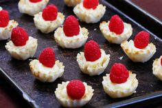 Brie cheese, raspberries and phyllo - need I say more?!?! YUM!!