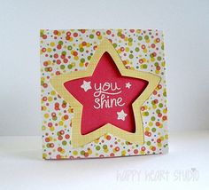 Lawn Fawn - Lucky Stars, Puffy Stars Stackables dies, Pink Lemonade 6x6 paper _ you shine. | Flickr - Photo Sharing!