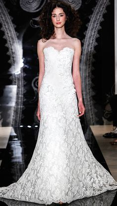 Fit and flare lace dress by Reem Acra