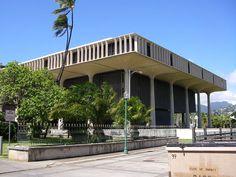 """Hawaii State Capitol"". # Honolulu, Havaí. USA."