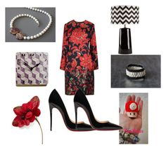 """Get the look"" by mariellascode ❤ liked on Polyvore featuring Nintendo, Cadeau, Holiday Lane, Christian Louboutin and Surya"