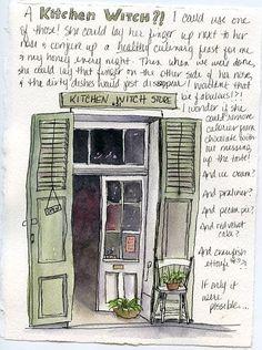 Artist's journal ... random thoughts with watercolor art journal sketchbook