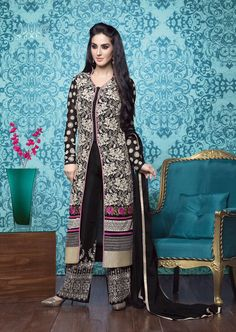 Black Georgette Kameez With Palazzo Pant 63334