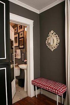 Dark walls and white trim