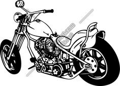 navy motorcycle Drawings   Bike5 Clipart and Vectorart: Vehicles - Motorcycles Vectorart and ...