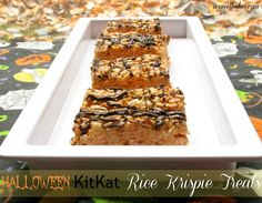 Halloween KitKat Rice Krispie Treats