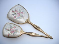 Vintage Ladies Dressing Table Vanity Set Hand Mirror By FillyGumbo, $45.00