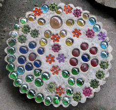 Homemade Stepping Stones | see a picture of a homemade stepping stone made by noah and submitted ...