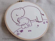 Baby Animals Hand Embroidery Patterns Beginner by SeptemberHouse