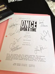 Once Upon a Time Script - Signed by cast at PaleyFest 2013