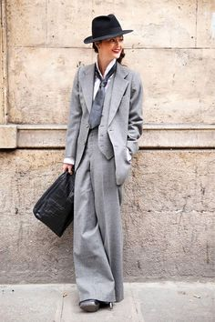 So chic! A woman looks lovely in my personal favorite suit--Vintage 70s 3-Piece YSL Suit