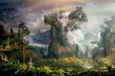 You build it, you submerse it, you shoot it. Brilliant work by Kim Keever