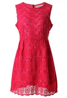Pretty crochet dress in hot pink http://rstyle.me/n/ibn6vnyg6