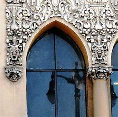 Gothic Revival detail Romanesque Architecture, Renaissance Architecture, Candle Sconces, Colonial, Medieval, Cathedral, Wall Lights, Castle, Detail