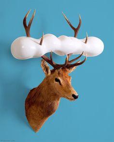 Sculpture Painting, Figurative Art, Surrealism, Deer, Contemporary Art, Moose Art, Sculptures, Fishing, Clouds