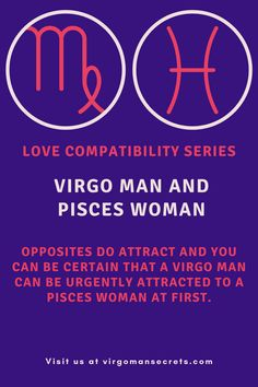 This attraction is often mutual as sentimental, dreamy Pisces are fascinating to Virgo, and Pisces is impressed with Virgo's sharp mind. Here is everything you need to know on how compatible are Virgo man and Pisces woman. Virgo Man, Pisces Woman, Love Compatibility, Need To Know, Closer, Attraction, Women, Woman