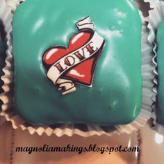 Super cute Valentine's Day brownies made by Magnolia Makings.