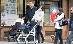 Alec and Hilaria take  tots Carmen and Raphael for winter stroll