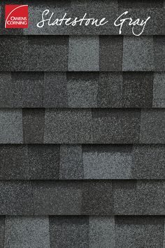 Slatestone Gray is a part of the Owens Corning TruDefinition® Duration® series shingles line. Roof Shingle Colors, Roof Colors, Exterior House Colors, Cottage Exterior, Exterior Design, Roof Shingles Types, Asphalt Roof Shingles, Roofing Shingles, Owens Corning Shingles