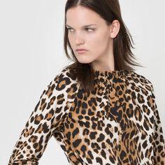 Camicetta fantasia leopardata