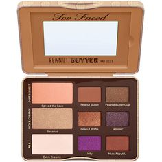 Peanut Butter and Jelly Eye Shadow Palette - Too Faced ($70) ❤ liked on Polyvore featuring beauty products, makeup, eye makeup, eyeshadow, beauty, too faced, palettes, filler, creamy eyeshadow and palette eyeshadow