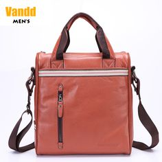 Aliexpress.com : Buy Vandd Men's Brown Genuine Leather Vertical Briefcase Versatile Fashion Tote Bag Handbag Messenger Designer Style New In Box from Reliable eyebrow piercing shop suppliers on Vandd Men. $101.00