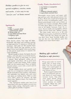 Vintage Christmas Cookie Recipes From A 1959 Better Homes And Garden  Holiday Publication. Recipes Are