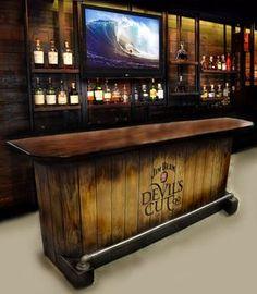 home bar custom hand built rustic whiskey, pub, man cave, barn U ...