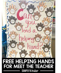 Helping hands for meet the teacher