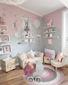 Girl Room Bedroom Ideas - How to Decorate a Disney Princess Room - Decor By Daisy Small Room Bedroom, Baby Bedroom, Baby Room Decor, Girls Bedroom, Bedroom Decor, Trendy Bedroom, Nursery Decor, Small Rooms, Room Girls