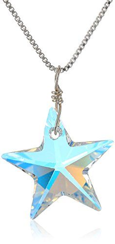 Sterling Silver Swarovski Elements Crystal Aurora Borealis Star Pendant Necklace * You can find more details by visiting the image link. (This is an affiliate link) Tiffany Necklace, Men Necklace, Initial Necklace, Pendant Necklace, Necklaces With Meaning, Girls Necklaces, Red Background Images, Necklace For Girlfriend, Star Pendant