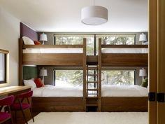 Space saving beds.