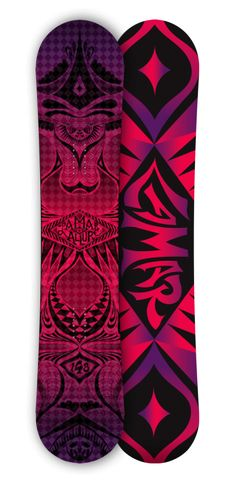 Design/Illustration by Laura Kottlowski - This design for the Allure was inspired by Alexandar McQueen - For that advanced snow lady with a little mystery in her.... #Snowboard Art