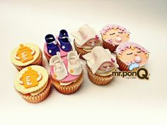 Cup-cakes baby shower mr.ponQ