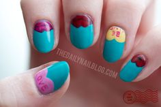 THURSDAY, FEBRUARY 14, 2013  Pucker Up!      Happy Valentine's Day! :D  www.thedailynailblog.com