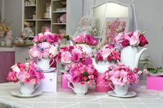 Beautiful tea party flowers by Dezign Shop