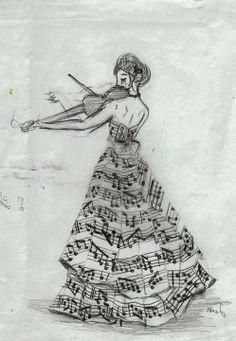 Musical dress.