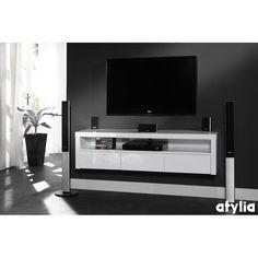 meuble tv mural eric atylia | moderní | pinterest | tvs and murals - Meuble Tv Composable Design