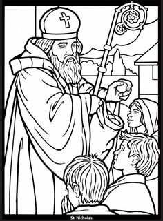 Saints Stained Glass Coloring Book Dover Publications Christmas