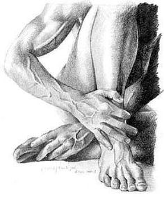 stipple hands and feet drawing