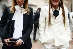 Anna-Dello-Russo www.prontaevestida.com street style preto branco fashion black white b&w looks